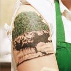 Mushroom Cloud Tree Tattoo