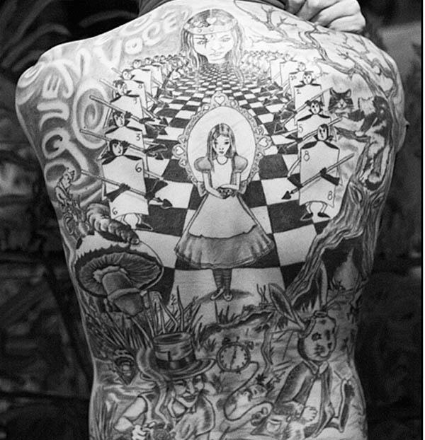 black and gray tattoo. Original Black and Gray Alice