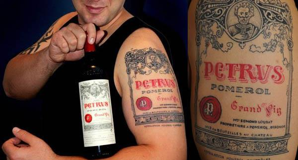 petrus pomerol wine tattoo A Sobering Look At Booze Tattoos
