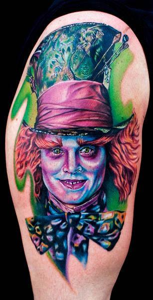 Tim Burton Movie Mad Hatter Tattoo Johnny Depp playing the Mad Hatter in the