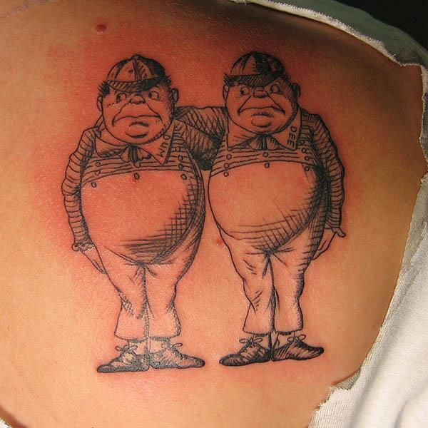tweedle dee tweedle dum tattoos Ink in Wonderland: 25 Mad Alice in  Wonderland Tattoos