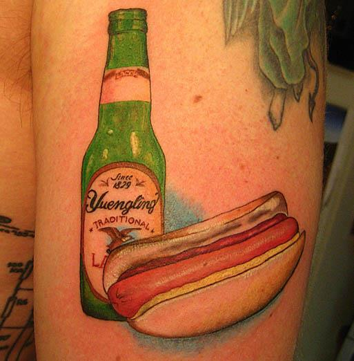 yuengling hot dog tattoo A Sobering Look At Booze Tattoos