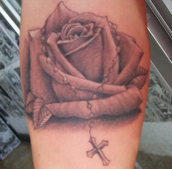 Rosary Rose Tattoo Roasary Rose Tattoo