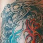 Fire & Water Dragon Tattoo