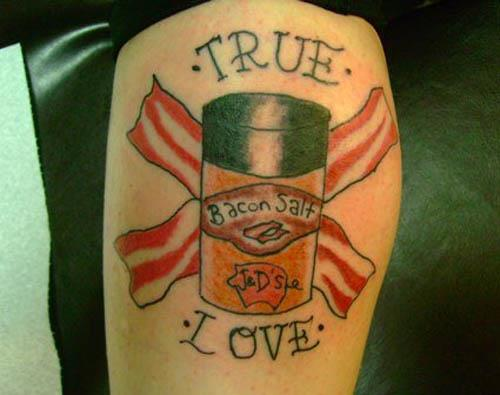 true love bacon salt tattoo Bacon Tattoos Are Good For Me