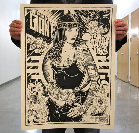 Mike Giant Custom Tattoos Poster Mike Giant Custom Tattoos Poster