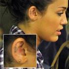 Miley Cyrus Love Ear Tattoo
