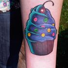 These Cupcake Tattoos Look Delicious