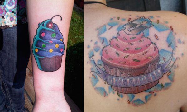 cupcake tattoos These Cupcake Tattoos Look Delicious
