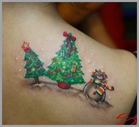 Christmas Scene Tattoo 17 Christmas Tattoos That You Have To See