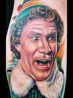 Will Ferrell in Elf 17 Christmas Tattoos That You Have To See